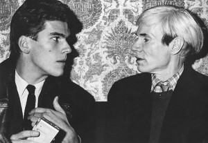 Andreas Bolle mit Andy Warhol